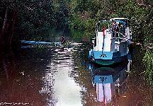 OFI Police patrol on the Sekonyer Kanan River