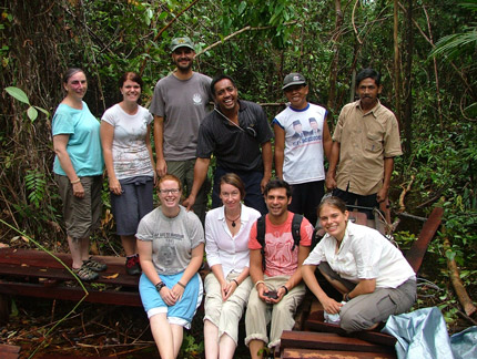 Group photo of volunteer team 2, 2010