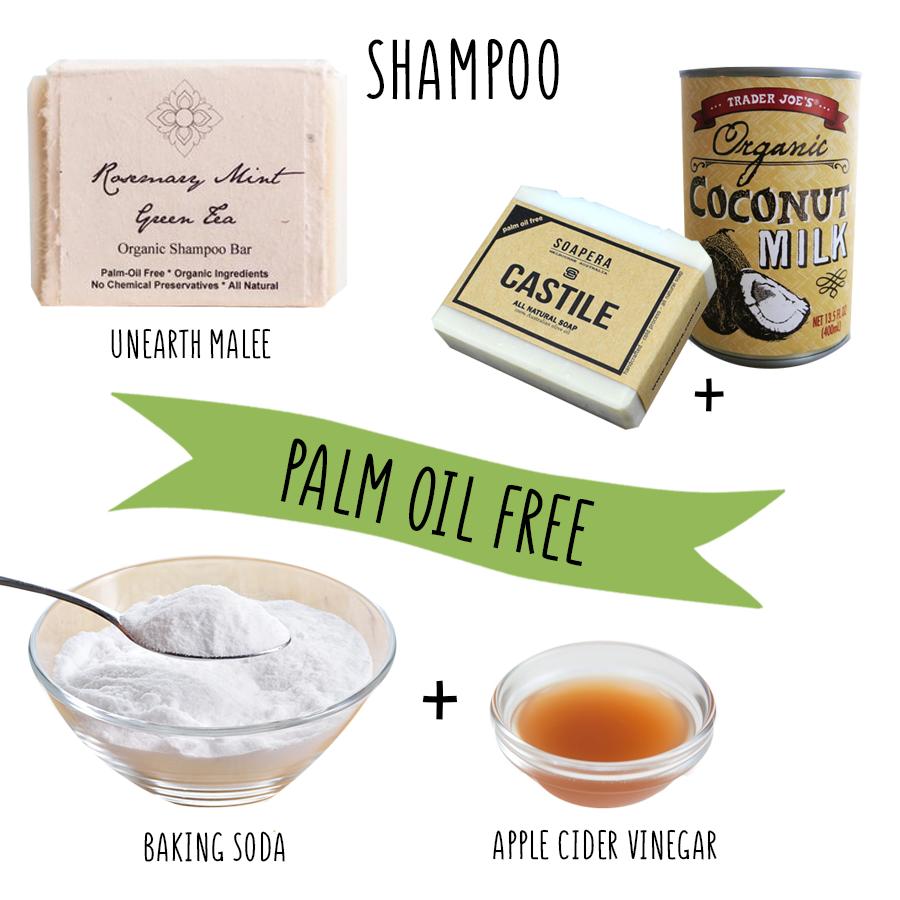 palm oil free shampoo do it yourself DIY say no to palm oil vegan orangutan foundation international