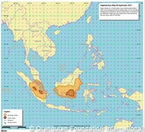 haze map fires indonesia