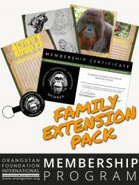 Orangutan Foundation International Member Program Family Extension Pack Membership save orangutans