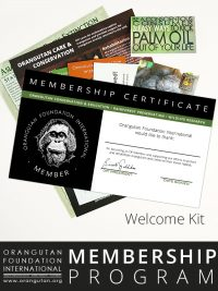 Orangutan Foundation International Member Program Student Senior Membership save orangutans