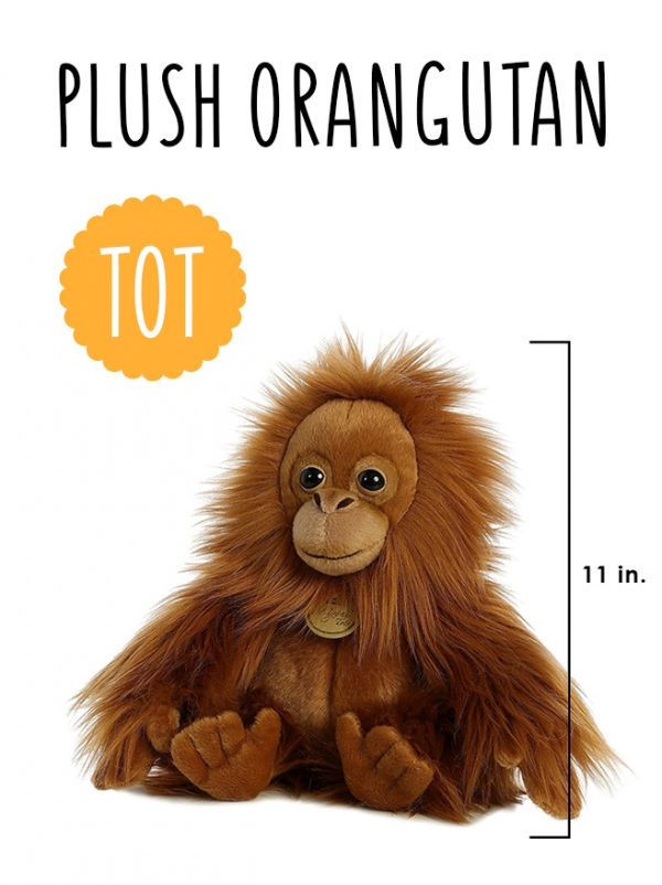 Miyoni plush orangutan tot aurora world Orangutan Foundation International