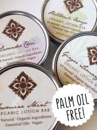 Palm oil free lotion bar Unearth Malee Orangutan Foundation International