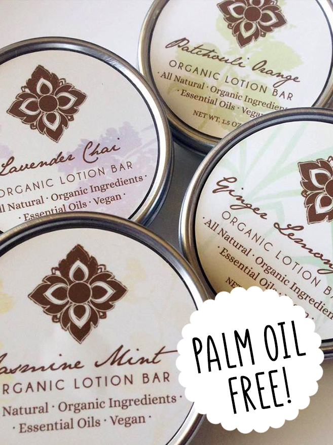 Palm oil free lotion bar Unearth Malee Orangutan Foundation International