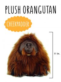 Miyoni plush orangutan male cheekpadder aurora world Orangutan Foundation International