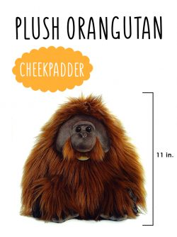 Miyoni plush orangutan male cheekpadder aurora world Orangutan Foundation International