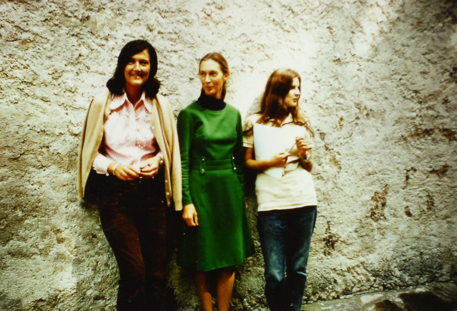 OFI Founder Dr. Birute Mary Galdikas (on the right) with Jane Goodall and Dian Fossey