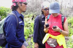 OFI staff and volunteers doing ground survey